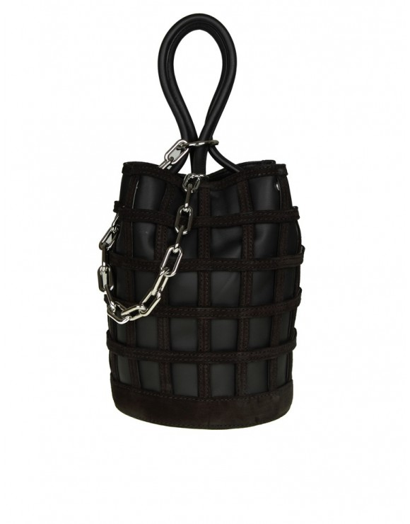 ALEXANDER WANG BORSA ROXY BUCKET in pelle colore nero