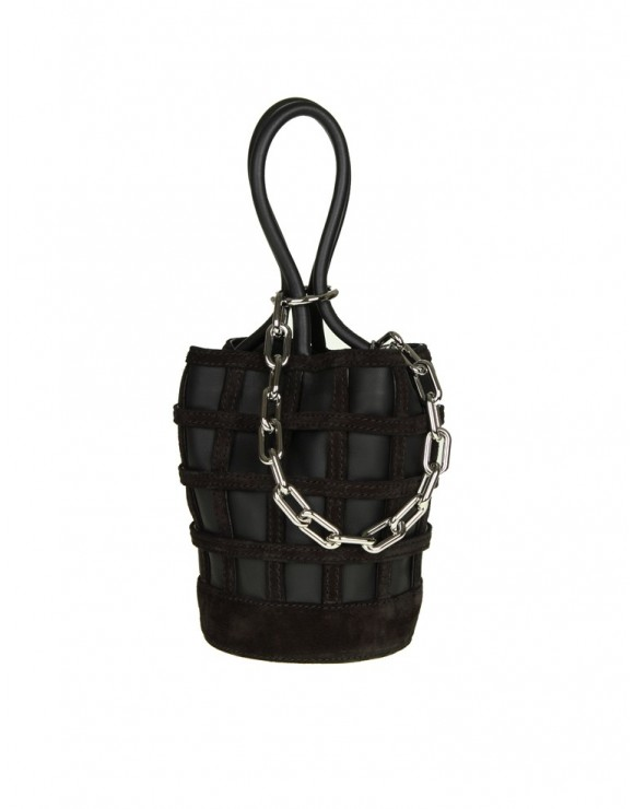 ALEXANDER WANG BAGS ROXY MINI bucket in pelle colore nero
