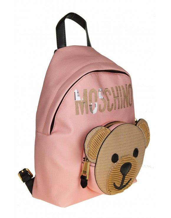 "MOSCHINO ZAINO ""TEDDY BEAR"" COLORE ROSA"