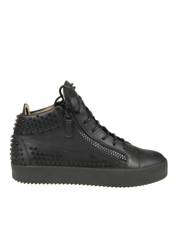 "GIUSEPPE ZANOTTI DESIGN SNEAKERS ""MAY LONDON"" IN PELLE CON BORCHIE GOMMATENERE"