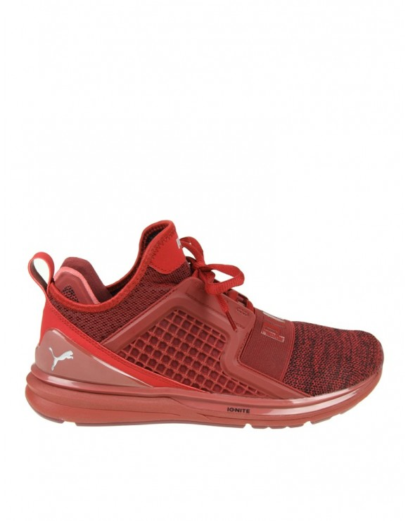 PUMA SNEAKERS IGNITE LIMITLESS IN TESSUTO COLORE rosso