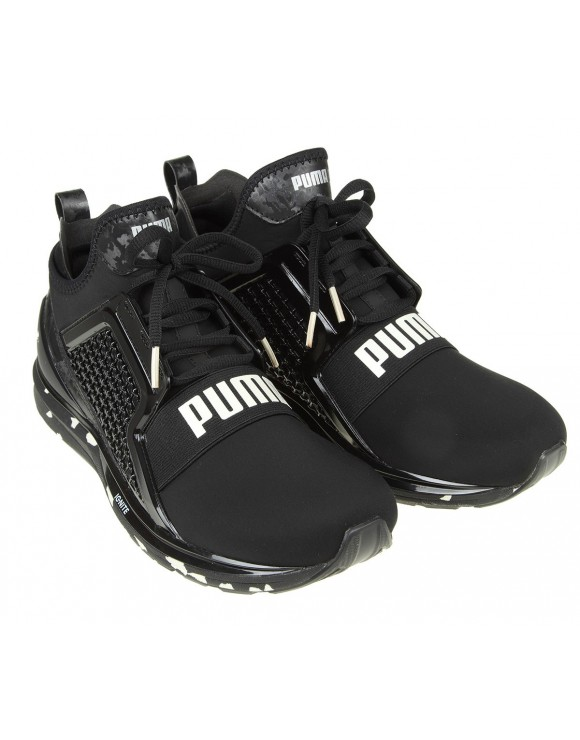 PUMA SNEAKERS IGNITE LIMITLESS SWIRL IN NEOPRENE COLORE NERO