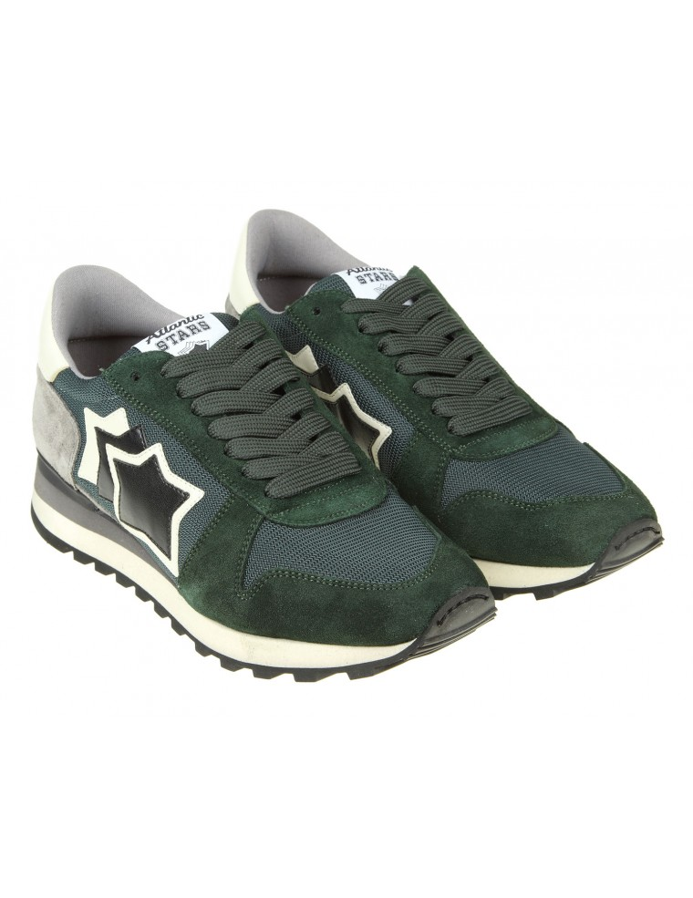 toiles Atlantique Argo Chaussures En Daim Vert oXJac