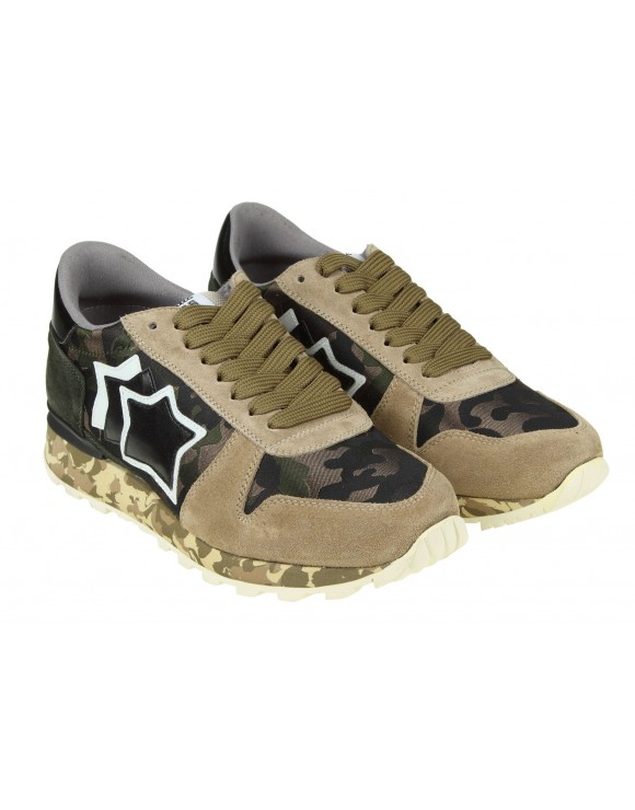 ATLANTIC STARS SNEAKERS sirius in camoscio camouflage