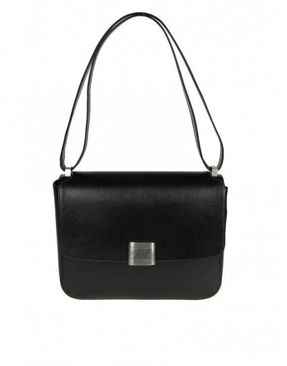 GOLDEN GOOSE VALENTINA BAG IN PELLE COLORE NERO