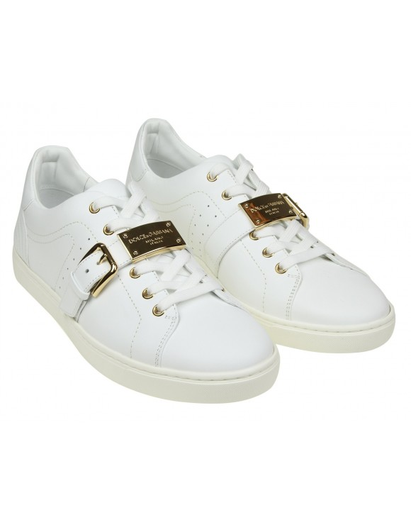 DOLCE & GABBANA SNEAKERS LONDON IN PELLE COLORE BIANCO