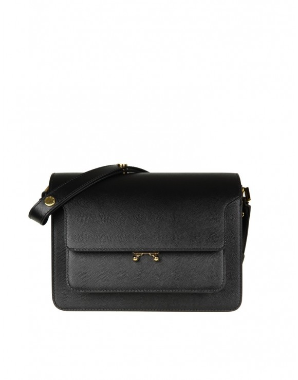 MARNI BORSA MEDIA TRUNK BAG IN PELLE COLORE NERO