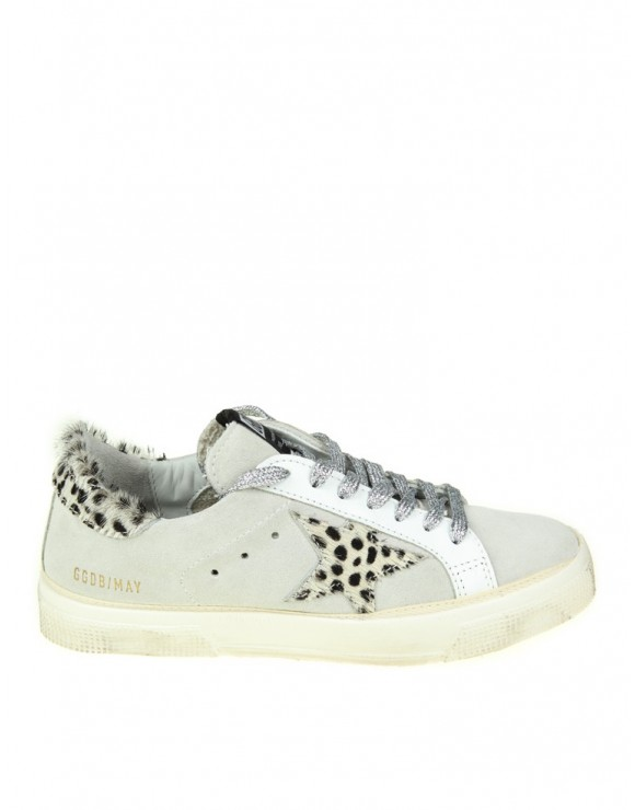 GOLDEN GOOSE SNEAKERS MAY IN PELLE BIANCA