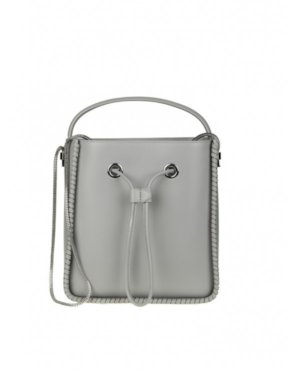 "PHILLIP LIM BORSA ""SOLEIL"" SMALL IN PELLE COLORE CEMENTO"