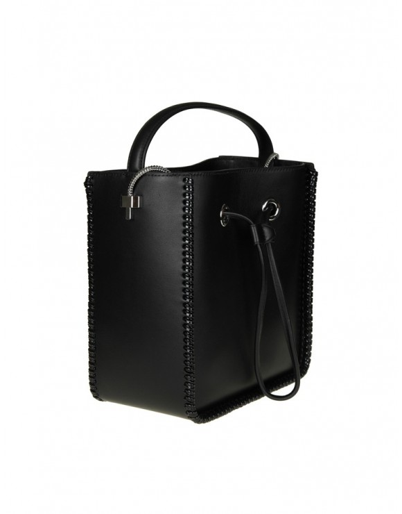 "PHILLIP LIM BORSA ""SOLEIL"" SMALL IN PELLE COLORE NERO"