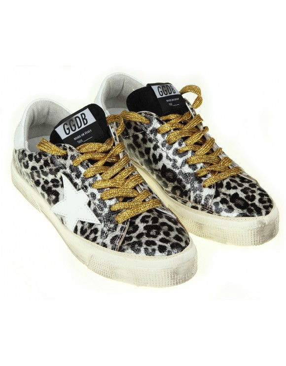 GOLDEN GOOSE SNEAKERS MAY IN PELLE COLORE LEOPARD
