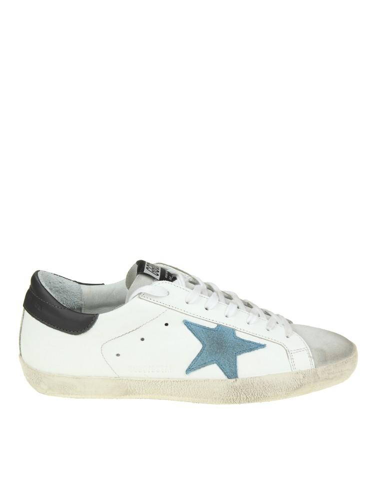 new concept 2fc32 50abd GOLDEN GOOSE Sneaker  Superstar  in pelle scamosciata blu BPWZux86r