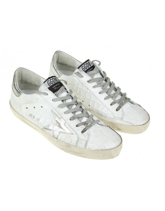 GOLDEN GOOSE SNEAKERS SUPERSTAR IN PELLE COLORE BIANCO