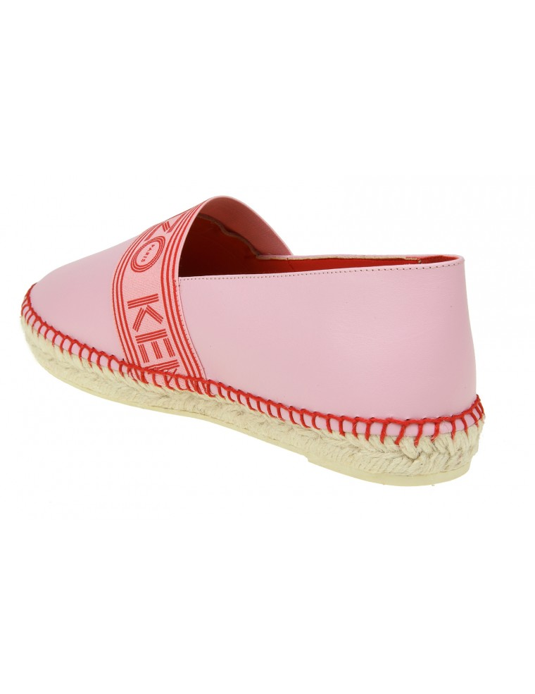... KENZO ESPADRILLAS IN PINK LEATHER WITH LOGO ...