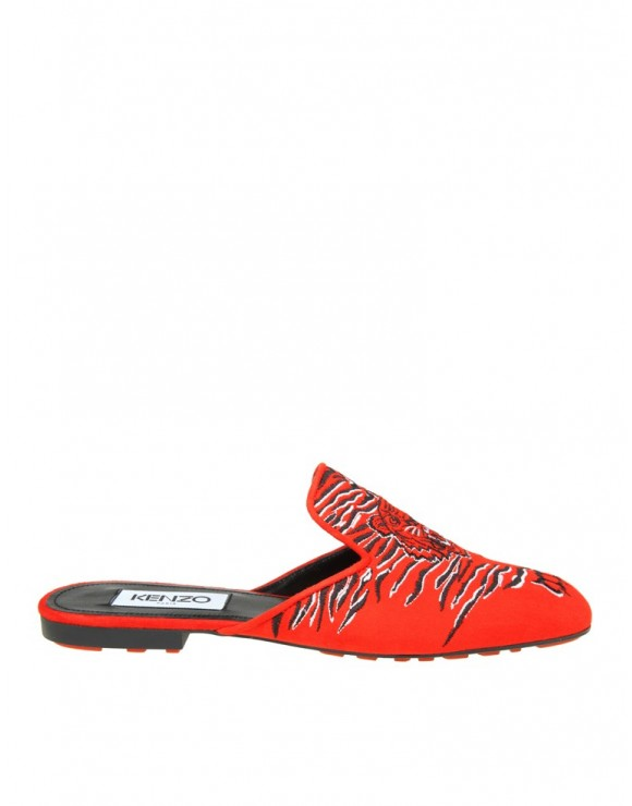 KENZO SABOT IN CAMOSCIO ROSSO