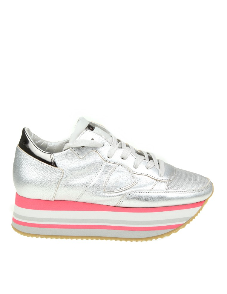 Sneakers for Women On Sale, Silver, Leather, 2017, 4.5 Philippe Model