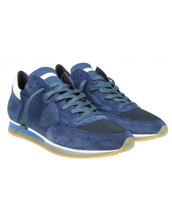 PHILIPPE MODEL SNEAKERS TROPEZ IN CAMOSCIO BLU