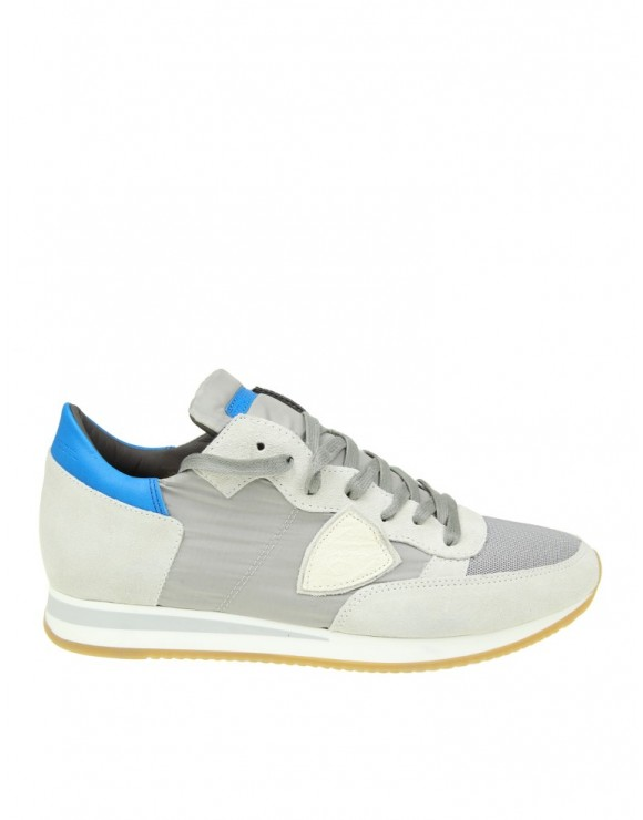PHILIPPE MODEL SNEAKERS TROPEZ IN CAMOSCIO BIANCO