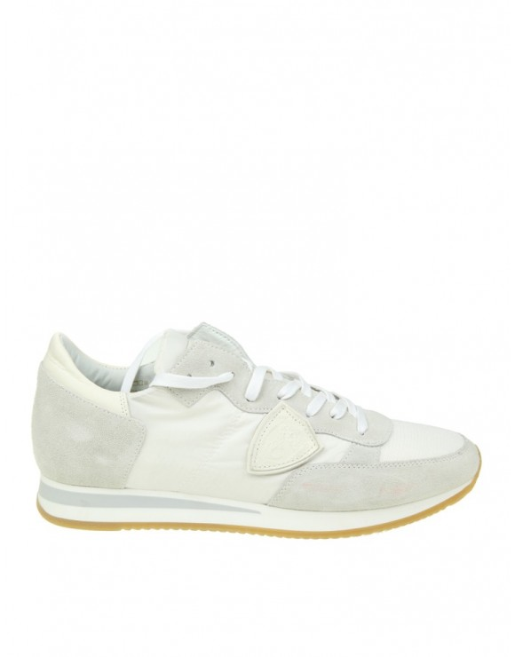 Men Shoes Philippe Model Philippe Model Sneakers Tropezin White Suede WHITE IYIUZGD