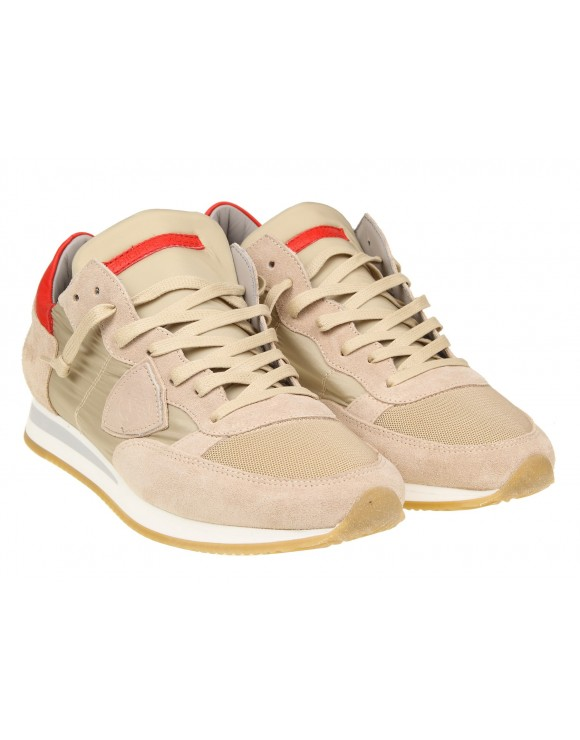 PHILIPPE MODEL SNEAKERS TROPEZ IN CAMOSCIO COLORE BEIGE