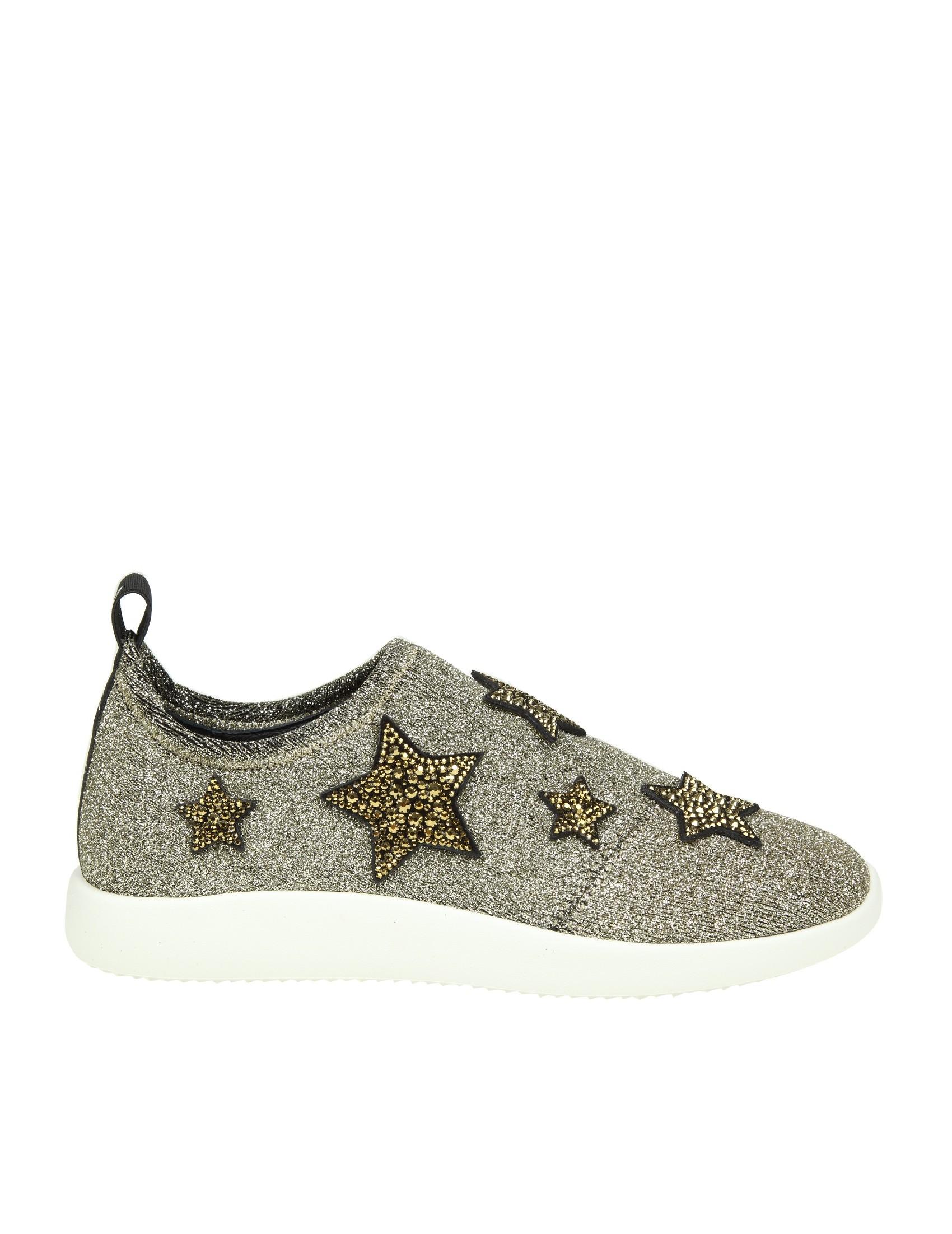 Giuseppe Zanotti Fabric slip on sneaker with stars ALENA STAR wcbvGIiyf
