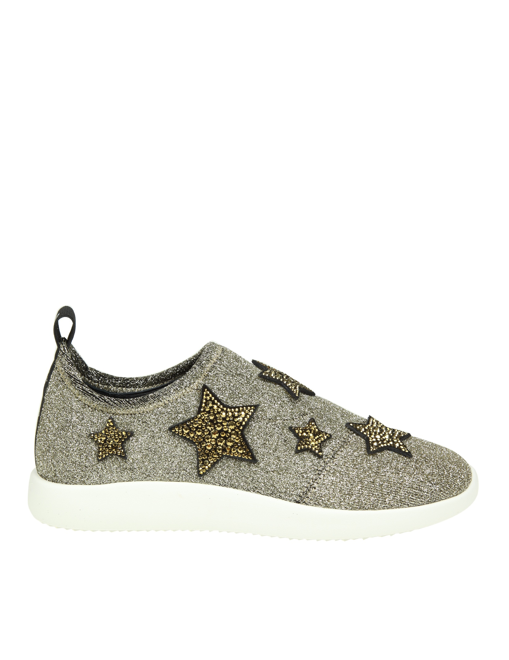 Giuseppe Zanotti Fabric slip on sneaker with stars ALENA STAR RDGeX