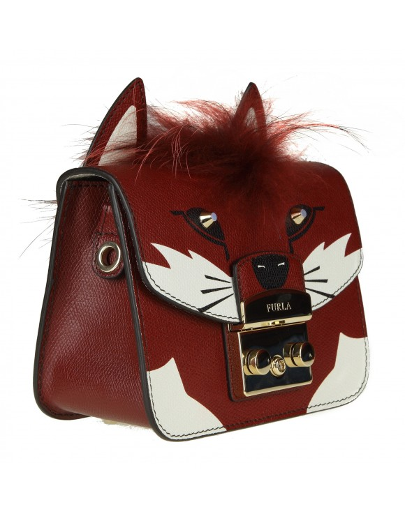FURLA BORSA A BANDOLIERA METROPOLIS JUNGLE IN PELLE MULTICOLOR