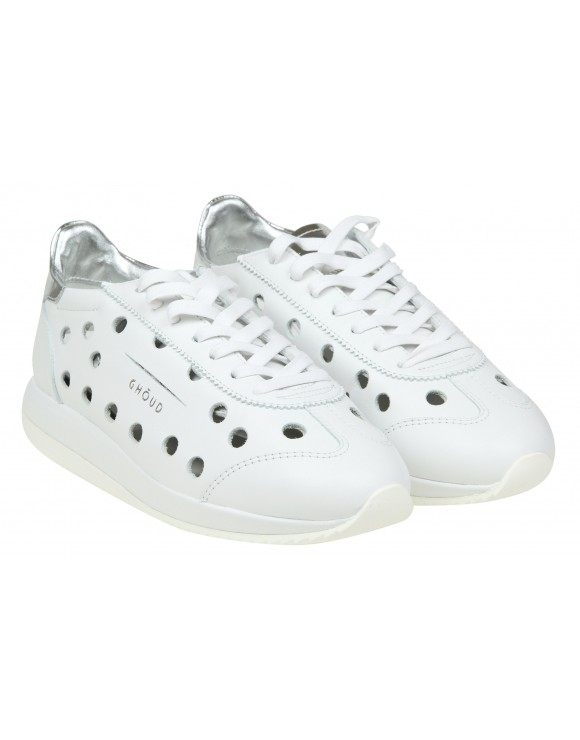 GHOUD SNEAKERS IN PELLE TRAFORATA COLORE BIANCO