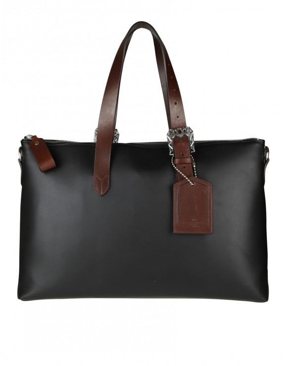 "GOLDEN GOOSE BORSA  ""THE DARCY""  IN  PELLE NERA"