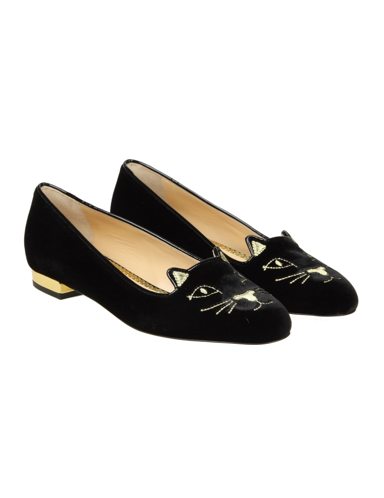 Clearance View Charlotte Olympia Kitty Flats ballerinas Cheap Collections Free Shipping Amazon Shop For Sale L9Q4LHhYO