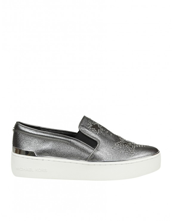 MICHAEL KORS SLIP ON TYSON IN PELLE GRIGIO
