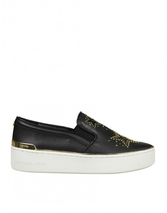 MICHAEL KORS SLIP ON TYSON IN PELLE NERO
