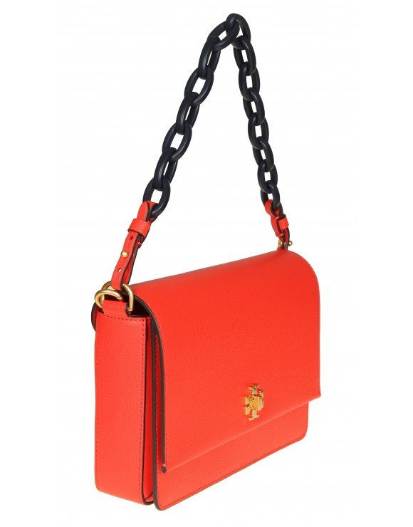 "TORY BURCH ""KIRA SHOULDER BAG"" IN PELLE ROSSA"