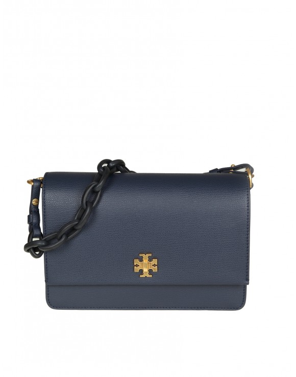 "TORY BURCH ""KIRA SHOULDER BAG"" IN PELLE BLU"