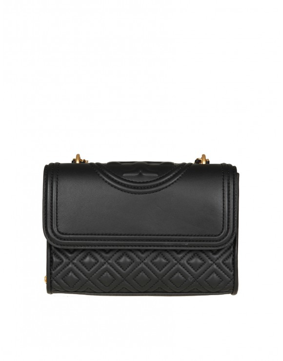 "TORY BURCH TRACOLLA ""FLEMING"" IN PELLE NERA"
