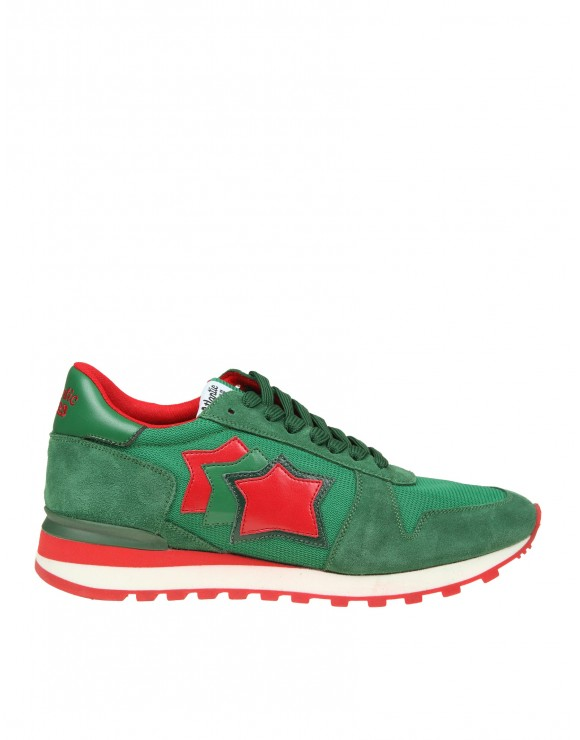 ATLANTIC STARS SNEAKERS ARGO IN CAMOSCIO VERDE