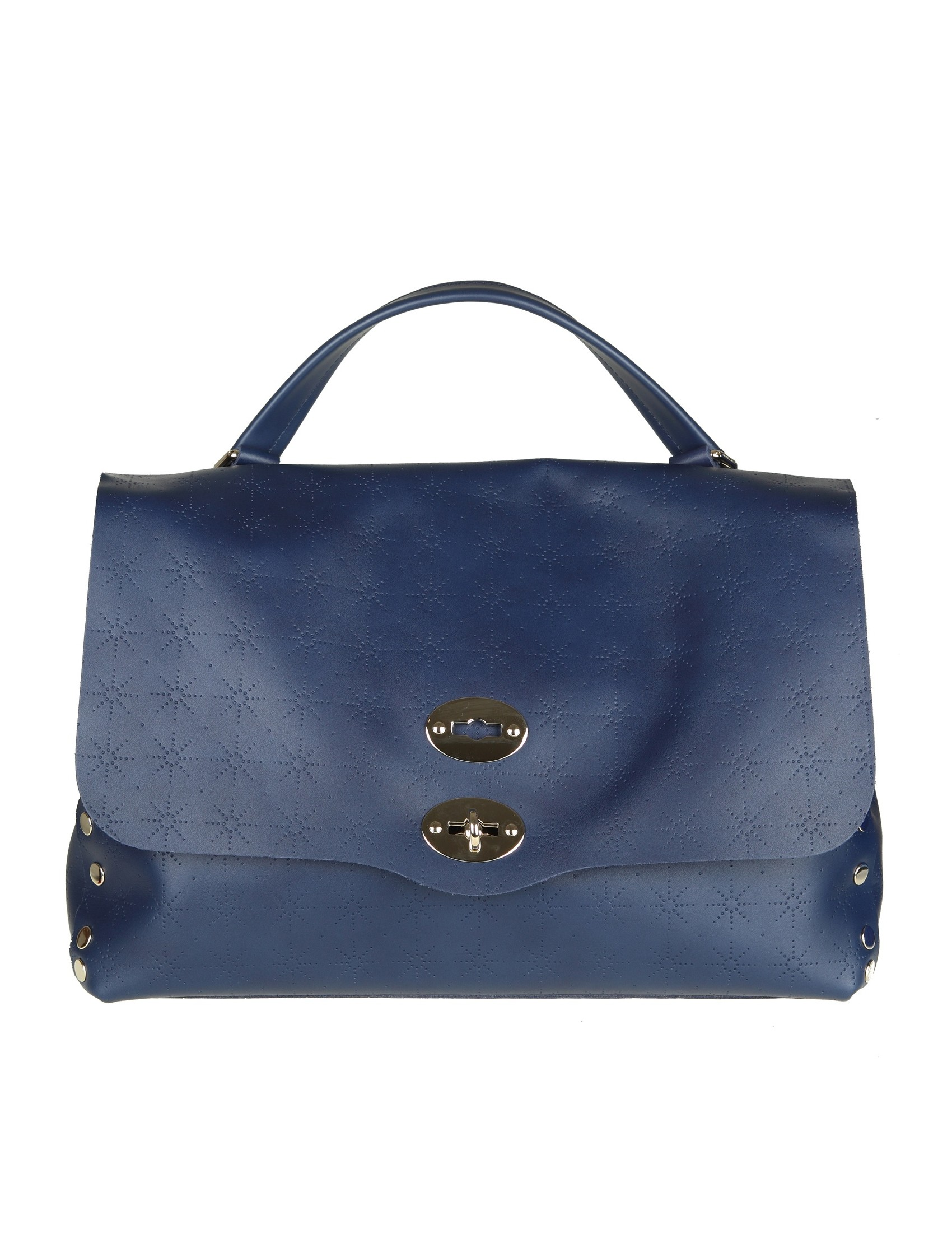 Zanellato Royal blue Astro Postina medium bag 9KNPF7o8