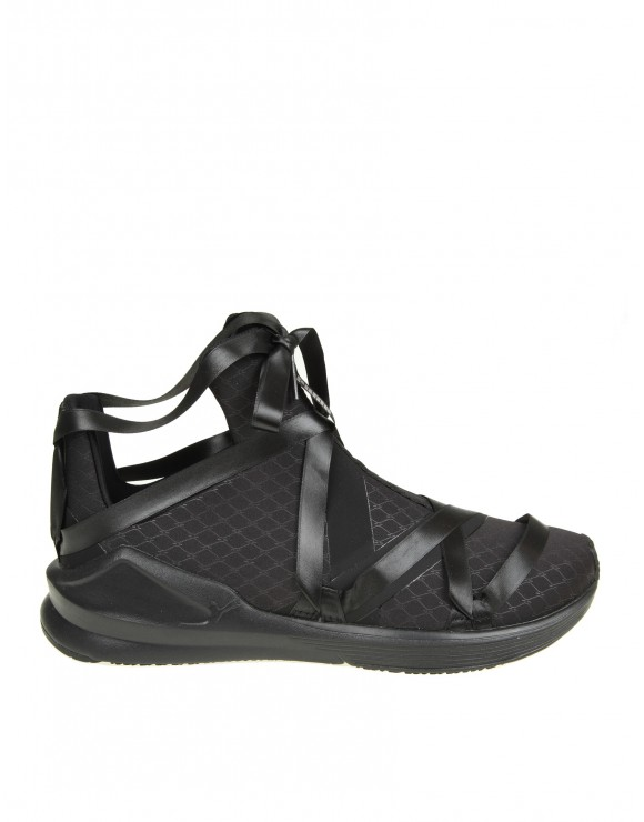 "PUMA SNEAKERS ""FIERCE ROPE SATIN"" IN TESSUTO NERO"