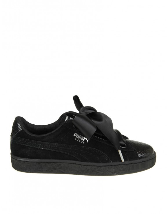 "PUMA SNEAKERS ""HEART BUBBLE"" IN CAMOSCIO NERO"