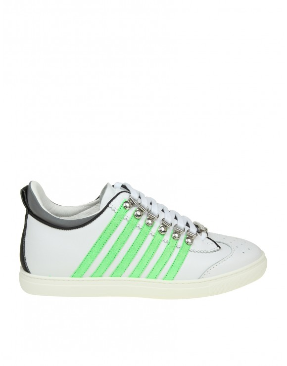 DSQUARED2 SNEAKERS RUNNER 251 IN PELLE BIANCA