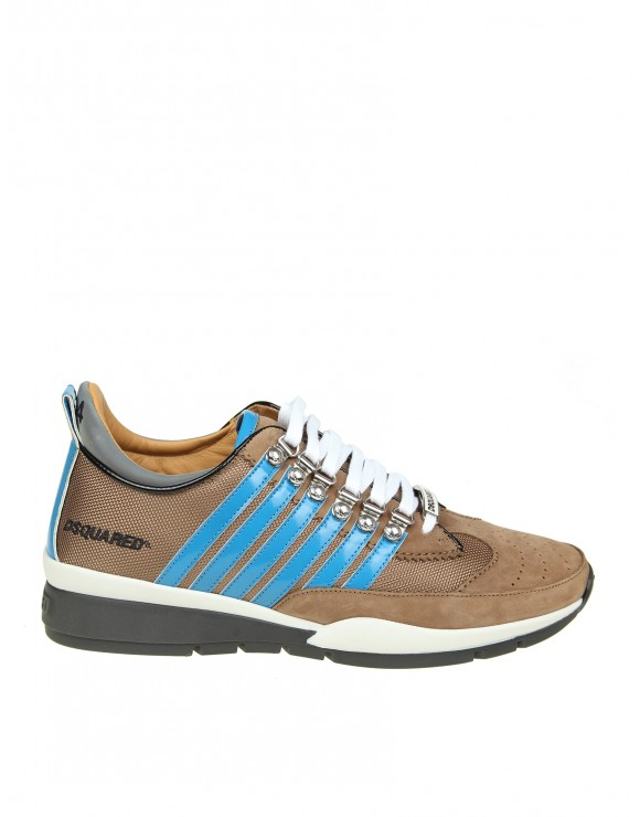 DSQUARED2 SNEAKERS LACED UP 251 IN CAMOSCIO E TESSUTO