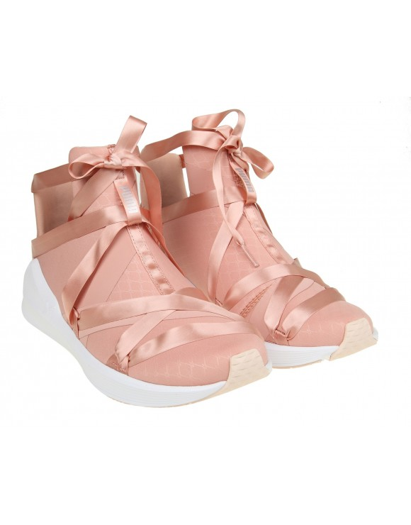 "PUMA SNEAKERS ""FIERCE ROPE SATIN"" IN TESSUTO ROSA"