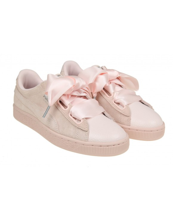 "PUMA SNEAKERS ""HEART BUBBLE"" IN CAMOSCIO ROSA"