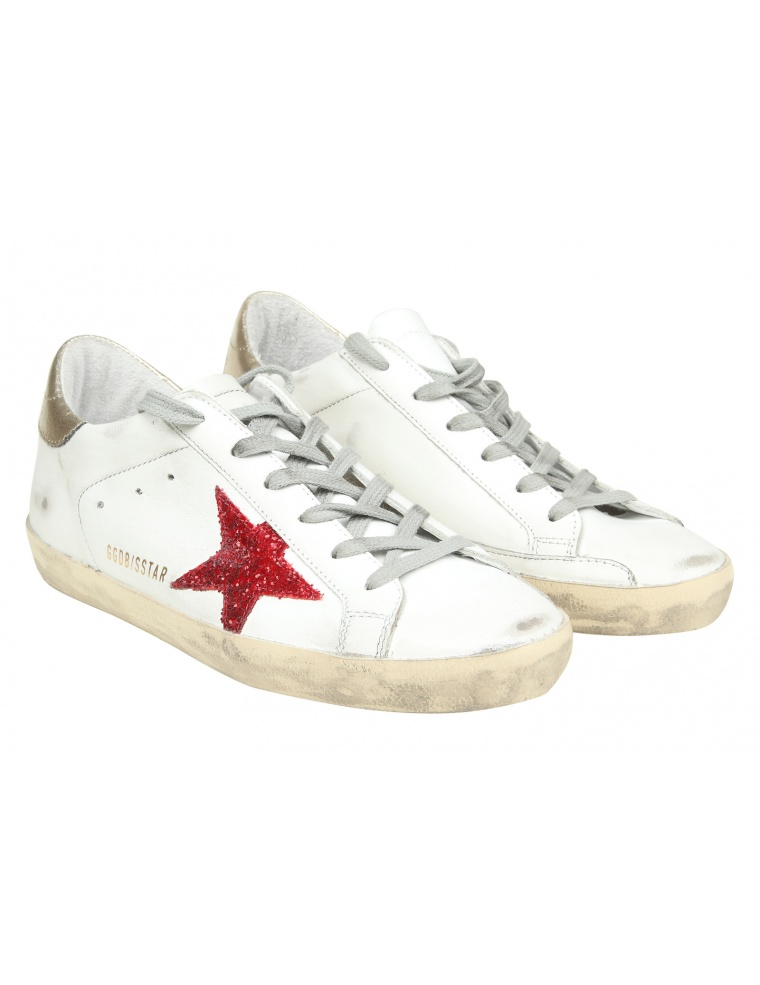 Buy Cheap Cheap Store Sale Online Golden Goose Superstar Sparkle Leather Sneakers Discount Sale Sale Extremely H1h3gj