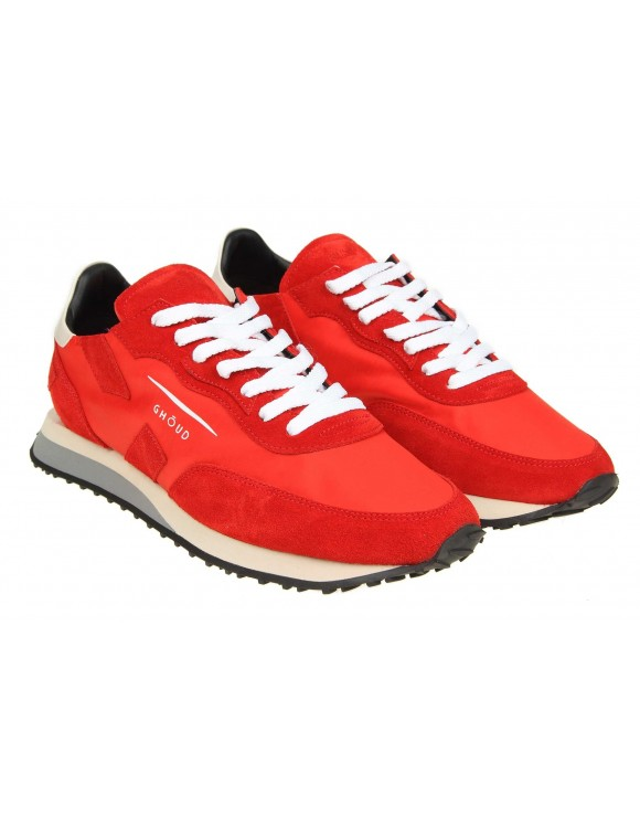 "GHOUD SNEAKERS  ""RUSH"" IN TESSUTO ROSSO"