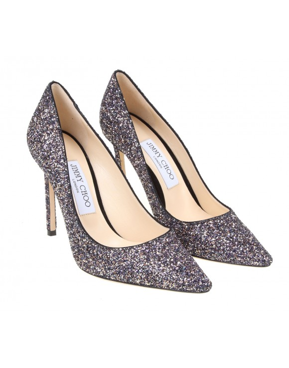 JIMMY CHOO DECOLLETE IN PELLE GLITTER MULTICOLOR