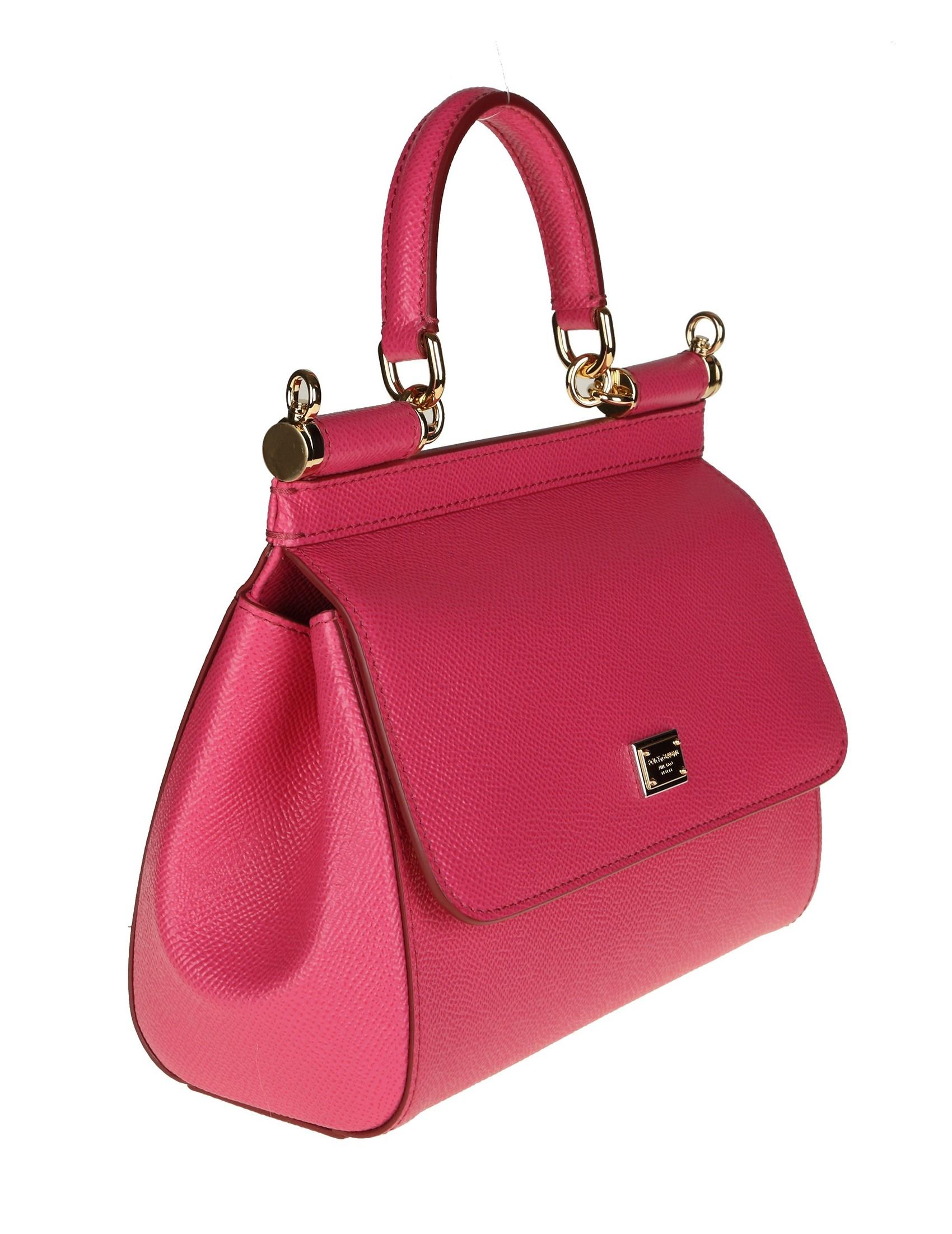 f5c66fbb91 Dolce Gabbana Hand Bag Sicily Leather Color Cyclamen Women S