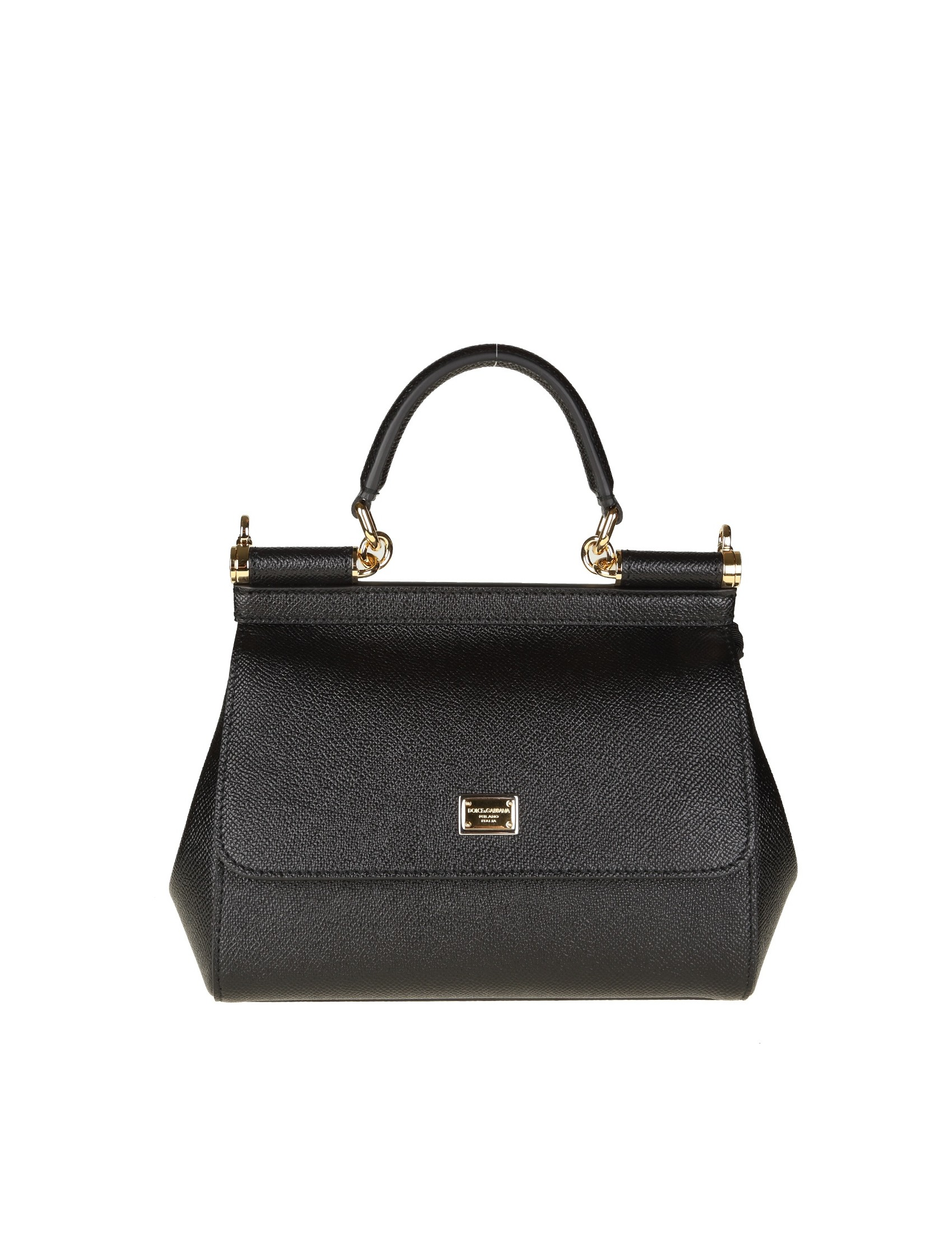 7414d8adbc85 HANDBAG SICILY BLACK COLOR FRONT PANEL WITH PRESSURE HIDDEN CLOSURE LOGO  WITH FRONT PLATE LEATHER HANDLE ADJUSTABLE AND REMOVABLE LEATHER STRAP