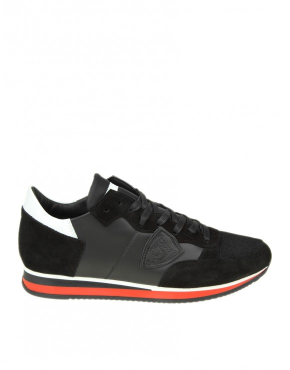 PHILIPPE MODEL SNEAKERS TROPEZ IN CAMOSCIO NERO