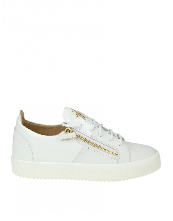 GIUSEPPE ZANOTTI SNEAKERS MAY LONDON IN PELLE COLORE BIANCO